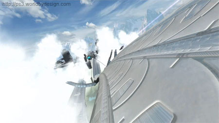 Wipeout HD on PS3 - cloud city!