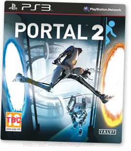Portal 2 game cover artwork for PS3